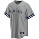 Derek Jeter No Name Youth Jersey - Number Only Kids Road Jersey - front