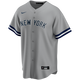 Thurman Munson Youth No Name Road Jersey - front
