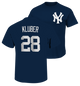 Yankees Corey Kluber Name and Number Youth Tee