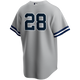 Corey Kluber No Name Youth Jersey - Number Only Kids Yankees Road Jersey
