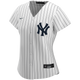 Lou Gehrig No Name Ladies Home Jersey - Number Only Replica by Nike - Front