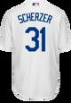 Max Scherzer Jersey - LA Dodgers Replica Adult Home Jersey - back