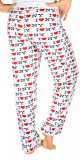 I Love NY White All-over Print Pajama Pants - back