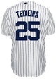 Yankees Replica Mark Teixeira Youth Home Jersey