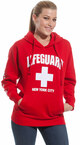 LIFEGUARD New York City Red Hoodie - on model