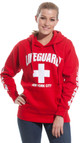 LIFEGUARD New York City Red Hoodie - on model 2