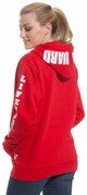 LIFEGUARD New York City Red Hoodie - on model side