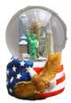 NYC Skyline with Eagle 45mm Snowglobe - w wtc