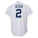 Yankees Replica Derek Jeter Youth Home Jersey - back