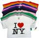 I Love NY Shirts in 11 colors
