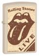 Rolling Stones Live Natural Matte Zippo