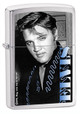 Elvis Blue High Polish Chrome Zippo - Signature