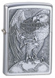 Harley Davidson Made in USA Brushed Chrome Zippo