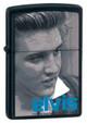 Elvis Blue Alfred Black Matte Zippo - Signature