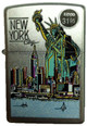 NYC Liberty Skyline Satin Chrome Zippo