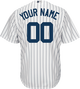 NY Yankees Replica Personalized Home Jersey - back