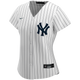 NY Yankees Replica Personalized Ladies Home Jersey - front