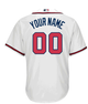 Atlanta Braves Replica Personalized Home Jersey - back