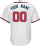 Atlanta Braves Replica Personalized Youth Home Jersey - back