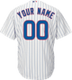 Chicago Cubs Replica Personalized Youth Home Jersey - Back