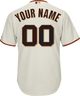 San Francisco Giants Replica Personalized Home Jersey - front