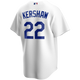 Clayton Kershaw LA Dodgers Replica Adult Home Jersey - back