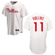 Philadelphia Phillies Adult Replica Jimmy Rollins Home Jersey