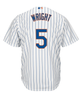 David Wright NY Mets Replica Youth Home Jersey - back