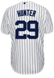 Catfish Hunter Jersey - NY Yankees Pinstripe Cooperstown Replica Throwback Jersey