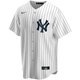 Catfish Hunter Jersey - NY Yankees Pinstripe Cooperstown Replica Throwback Jersey Nike -  Front