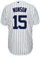 Thurman Munson Jersey - NY Yankees Pinstripe Cooperstown Replica Throwback Jersey