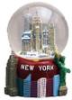 NY Skyline Big Apple Base 45mm Snowglobe - W Wtc