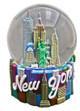 NY Icons Script Color 45mm Snowglobe - W/ WTC