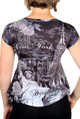 NY Liberty and Empire State Rhinestones Black Ladies T-Shirt - back