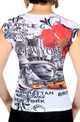 NY Liberty with Taxis Floral Ladies T-shirt - back