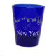 NY Glowing Skyline Shot Glass – Cobalt Blue