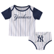 "Yankees Baby ""Little Player"" Pinstripe and Navy 2pc. Set"