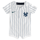Yankees Baby Cool Base Jersey Romper - front