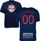 NY Red Bulls Personalized Navy Adult T-Shirt - Red Lettering