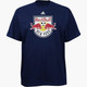 NY Red Bulls Personalized Navy Adult T-Shirt - Red Lettering - front