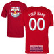 NY Red Bulls Personalized Red Youth T-Shirt - White Lettering