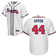 Hank Aaron Jersey - Atlanta Braves Replica Adult Home Jersey - front and back