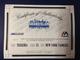 Mark Teixeira Signature Series No Name Jersey - certificate