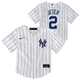 Yankees Jeter Replica Infant Jersey - front and back