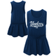 Yankees Toddler Glitter Tank Dress with back