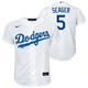 Corey Seager Youth Jersey - LA Dodgers Replica Kids Home Jersey