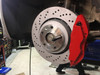 Custom Colour/Logo - Red Caliper No Logo - Test Fitted