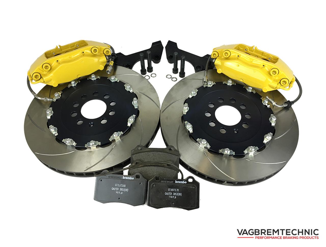 Brembo Brake Kit >> Front Brake Kit 4 Piston Brembo Calipers With 343x28mm 2 Piece Discs Bk0004