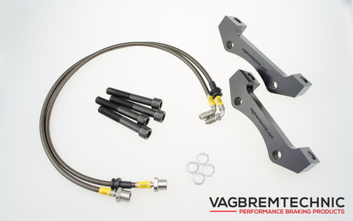 Front Caliper Carrier Kit - Allows Fitment of Porsche 996TT Calipers to OE 334mm Discs (AK0005)