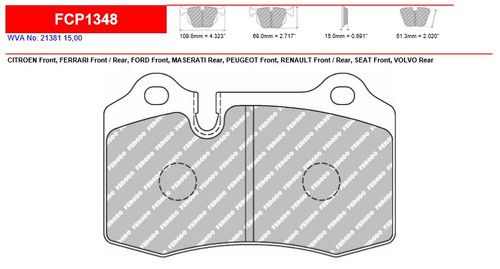 Ferodo DS2500 Front Brake Pad Set (FCP1348H)